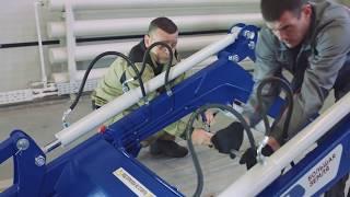 видео Безопасность и установка гидравлического шланга