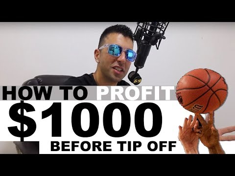 How to make $1,000 profit before tip off - Pre-match Arbitrage