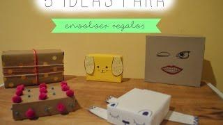 5 Ideas Creativas para Envolver REGALOS!- Melina Sandoval