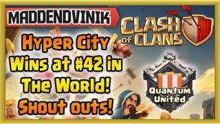Clash of Clans - Hyper City beat NWG at #42 In the World + Shout Outs (Gameplay Commentary)
