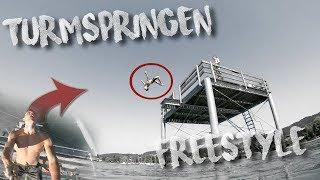 Backflip vom Sprungturm I Splashdiving Freestyle am Bodensee Day 2