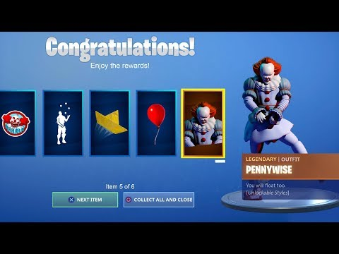 HOW TO GET FREE IT CHAPTER 2 REWARDS IN FORTNITE! [Pennywise Skin] *NEW*