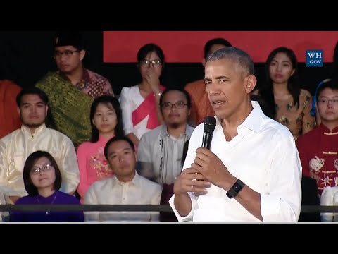 Obama Town Hall In Laos  - Full Event