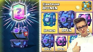 MEGA FREE CHEST OPENING! SUPER MAGICAL + CLAN TRUHE + LEGENDARY! Clash Royale Deutsch Kevgo around