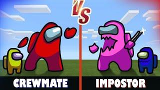 Crewmate vs. Impostor | Minecraft (AMONG US 2000iq plays)