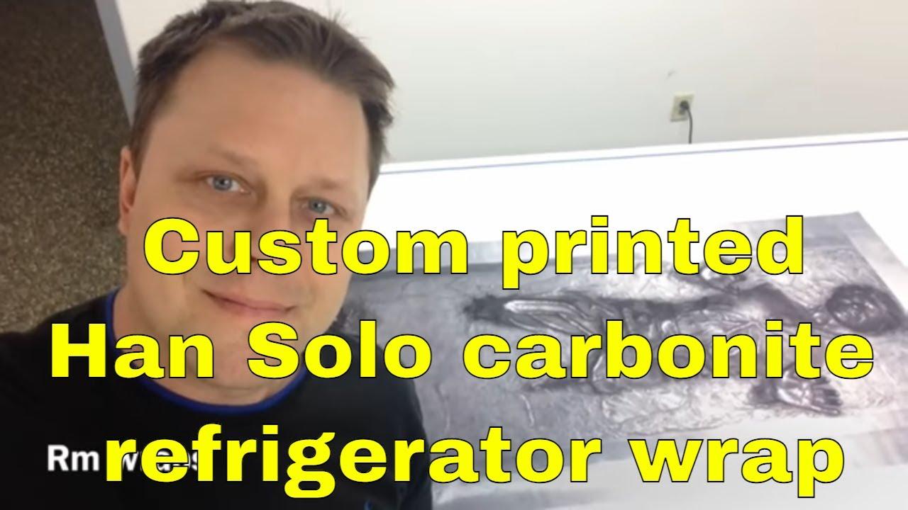 Han Solo Carbonite Refrigerator Wrap Sticker