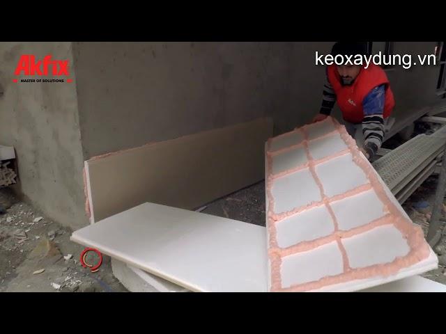 Hướng dẫn lắp đặt các tấm panel xốp trang trí sử dụng keo bọt Akfix