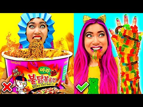 Weird Fun Hilarious Food Hacks You Should Try!!! (CC Available)