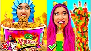 So Funny! Weird Fun Food Hacks You Should Try!!! (CC Available)