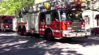 Parade Anciens Véhicules Pompiers Montréal