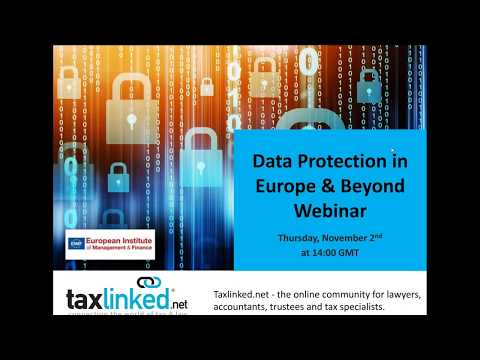 Understanding Data Protection in Europe & Beyond (November 2