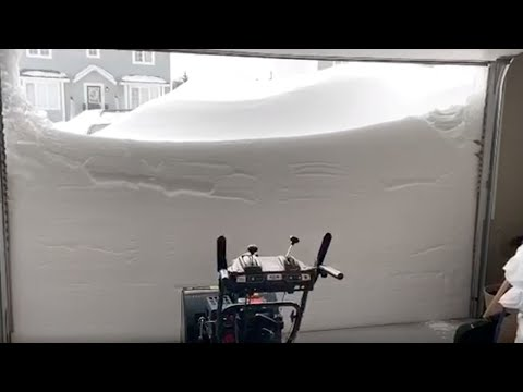 Snow blizzard hits parts of Canada