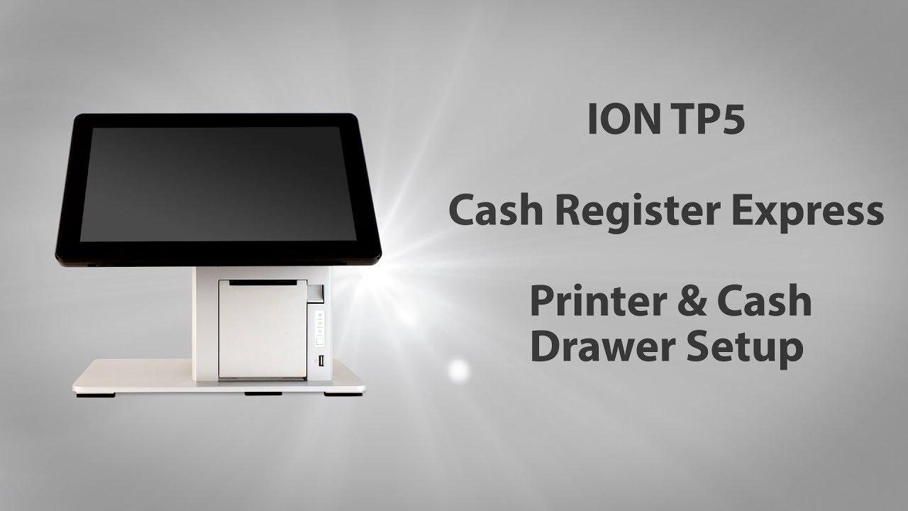 ION TP5 PCAmerica Cash Register Express Printer Setup