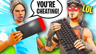 I tried out for A Nintendo Switch Fortnite Clan while CHEATING...