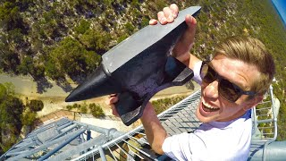 One of How Ridiculous's most viewed videos: ANVIL Vs. GIANT ICE BLOCK 45m Drop Test!