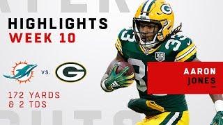 Aaron Jones Highlights vs. Dolphins