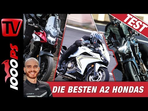 Honda CB500F & CBR500R & CB500X 2019 Test - Topspeed, Sound, Onboard - A2 Motorräder im Vergleich
