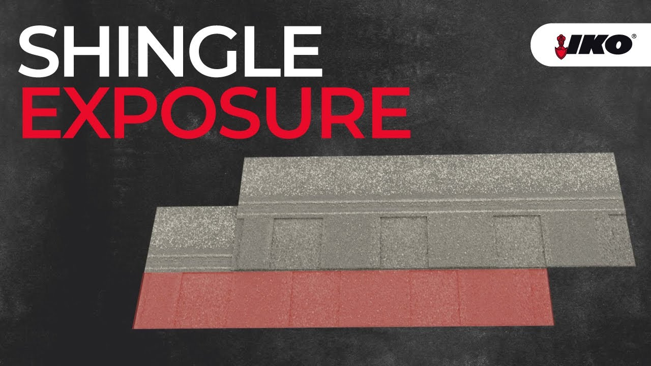 Roof Shingle Exposure - How Much Exposure Do Architectural Shingles Have  - IKO