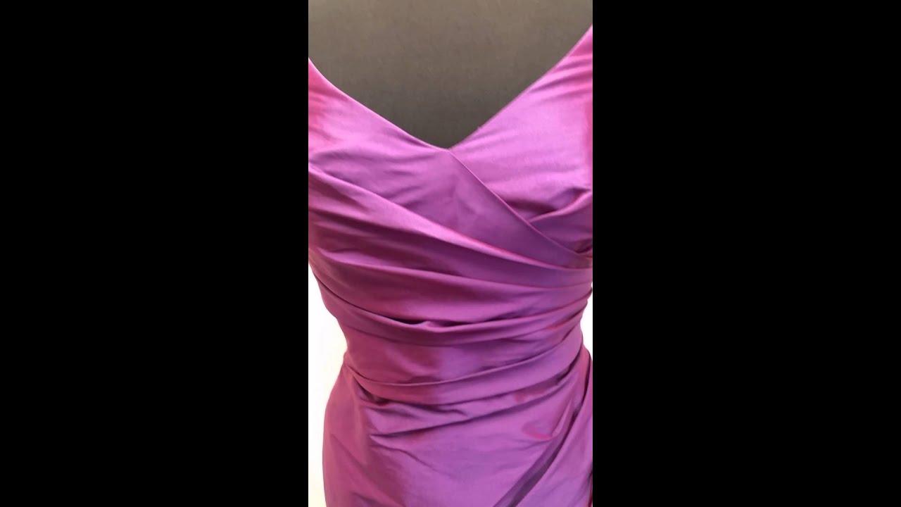 Alfred Sung D644 Bridesmaid Dress - Peau de Soie - Paradise Purple ...