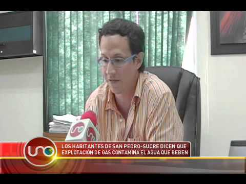 Los habitantes de San Pedro Sucre dicen que explotación de gas contamina el agua que beben