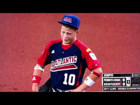 little league world series hard tag at first crying