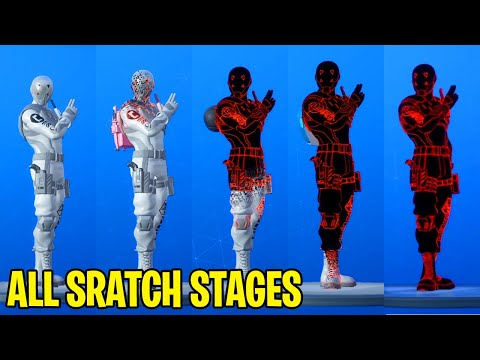 ALL 8 Ball Vs Scratch Stages From Stage 1 To Stage 5 Styles / Maxed At Lvl 350 - Fortnite Chapter 2