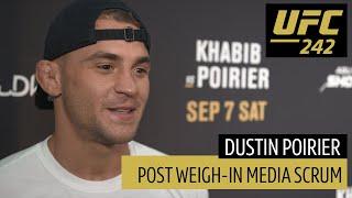 Dustin Poirier's full UFC 242 media scrum