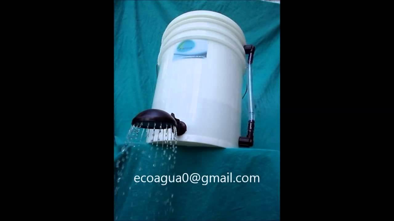 Ecoagua ducha calef n el ctrico youtube for Partes de una griferia de ducha