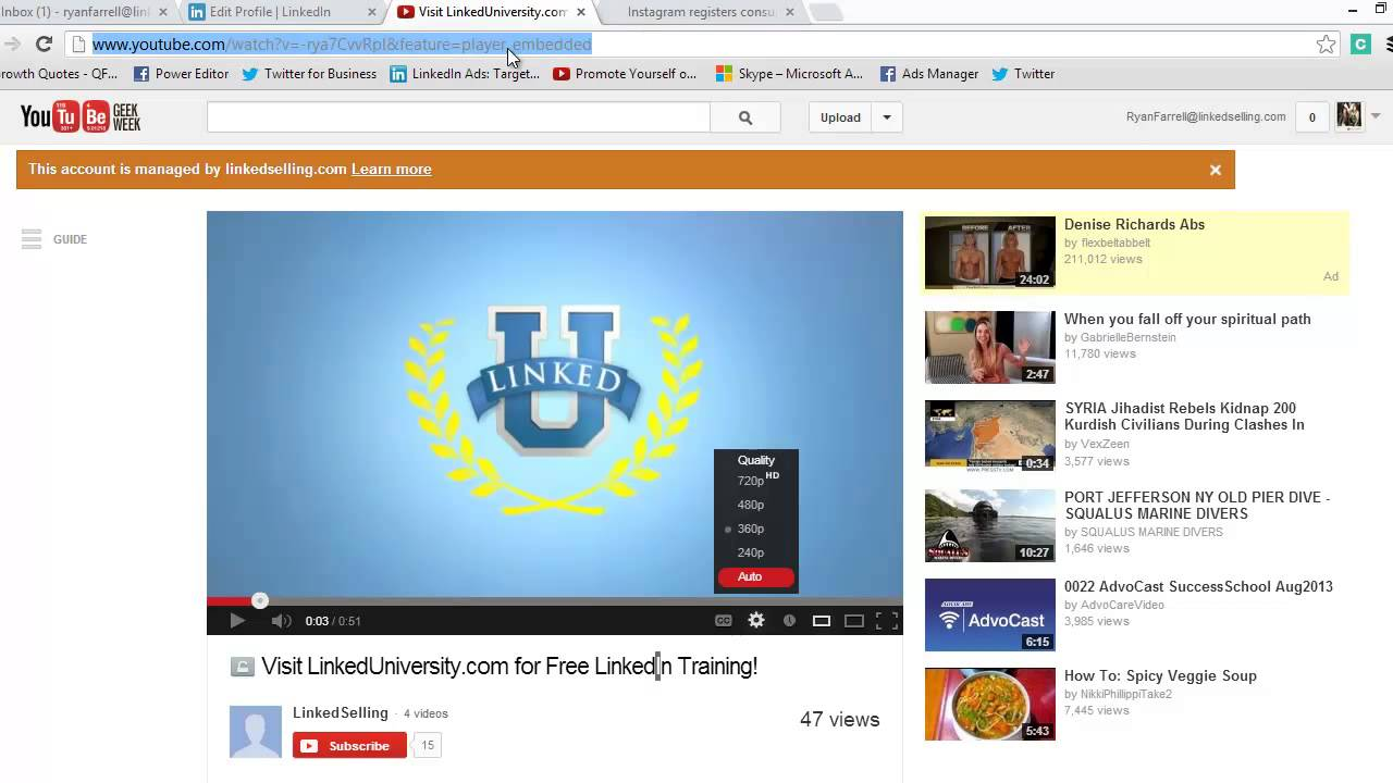 How to add a video or PDF to your LinkedIn profile - YouTube