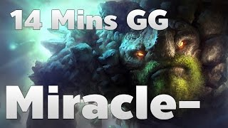 Miracle- Pro Tiny GODLIKE Without Death Ranked Match - Dota 2 RedArchon