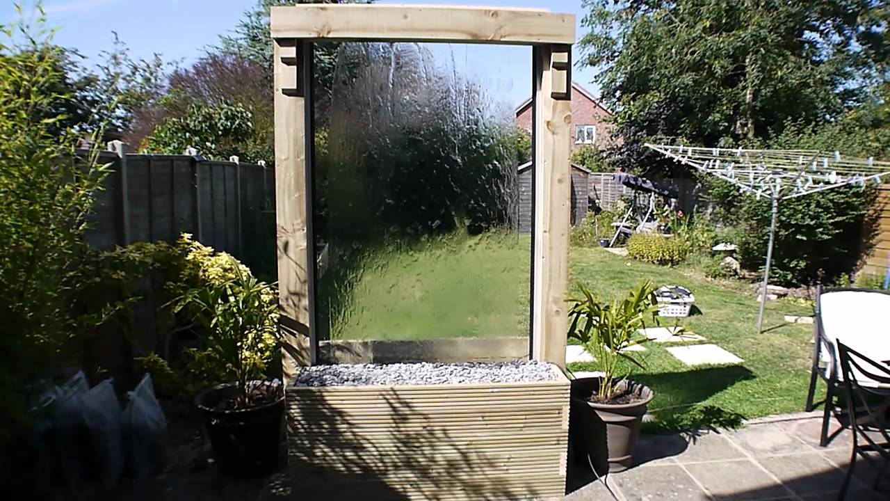 Homemade Glass Waterfall Youtube
