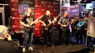 Keith Merrow with a Mayones Regius 7 Custom at Seymour Duncan Booth - Namm Show 2013
