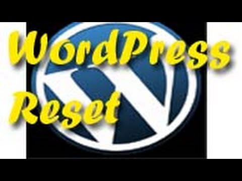How to reset your word press theme default factory settings -HD videos Technical Digital