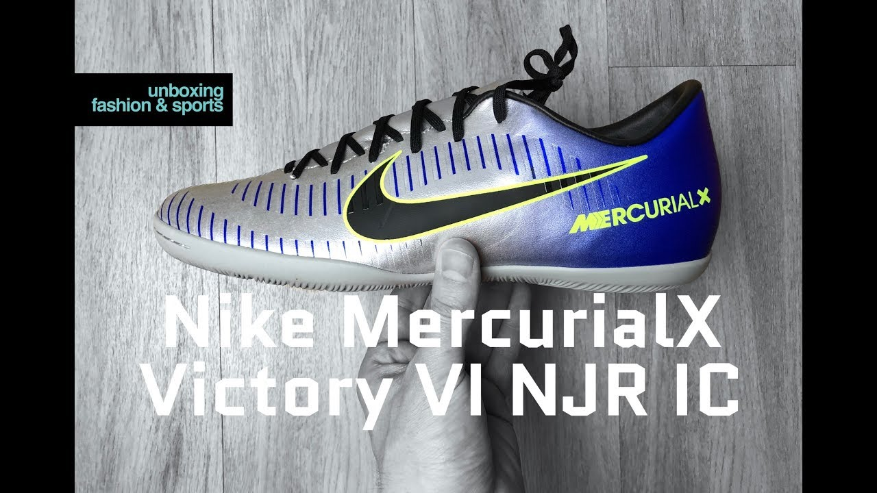 huge discount 2a9e2 a0ad1 Nike MercurialX Victory VI NJR IC 'Racer Blue/blk-chrome' | UNBOXING & ON  FEET | football boots | 4K