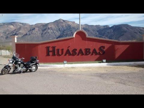 Huasabas Sonora Mexico (1 de 2) Rodada por el Pueblo Enero 24 2016 Retro Bikers