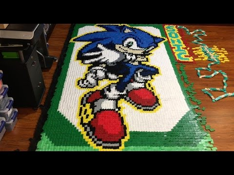 Thumbnail: Sonic the Hedgehog (In 56,653 Dominoes!)