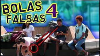 LINDA GAROTA COM BOLAS FALSAS 4 - PEGADINHA (FAKE BALLS PRANK)