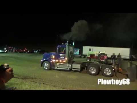 Semi's pulling in Potosi, WI 8-12-2017  - Buy American