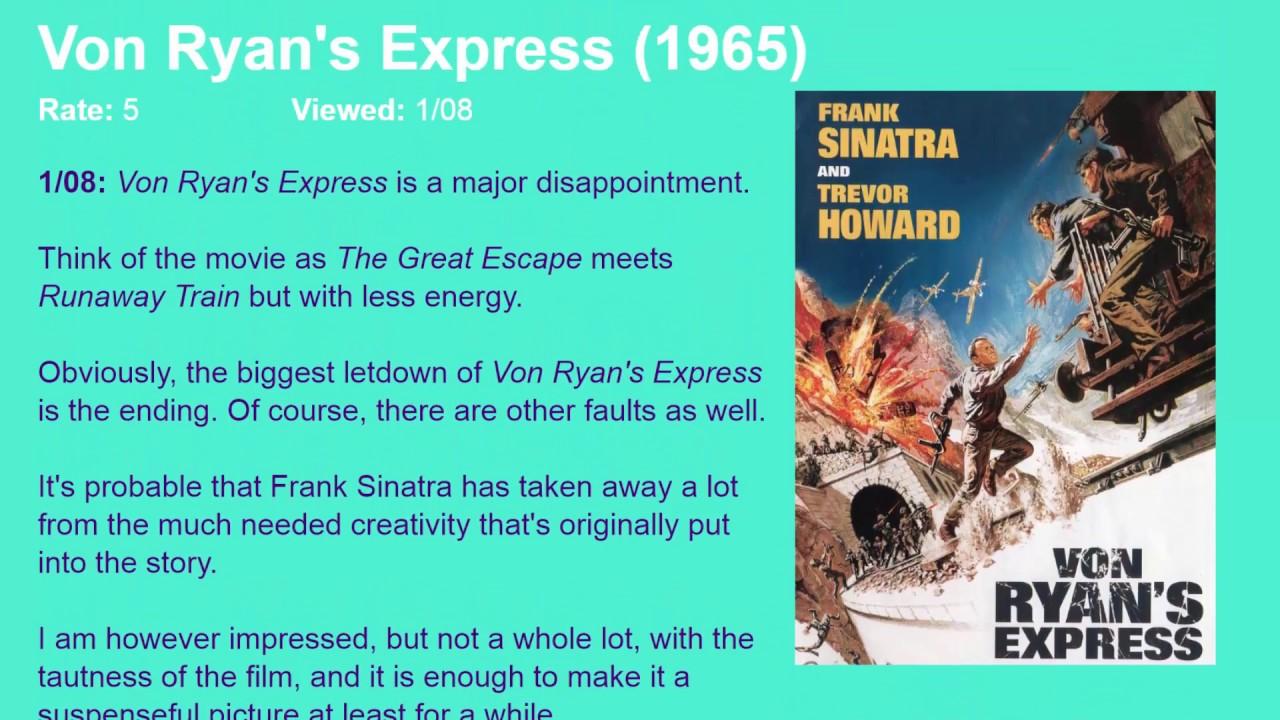 Download Movie Review: Von Ryan's Express (1965) [HD]