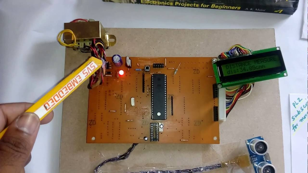 Distance Measurement Using Ultrasonic Sensor And Microcontroller Free Project Circuit Diagram Accelerometer Amplifier