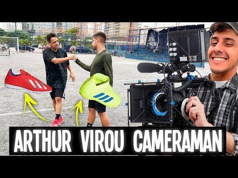 DESAFIO DAS CHUTEIRAS (O Arthur virou camera man???)