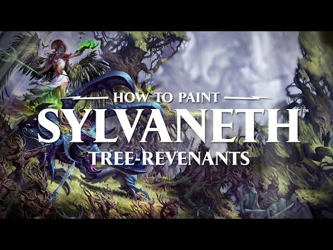 How to paint Sylvaneth: Tree-revenants.