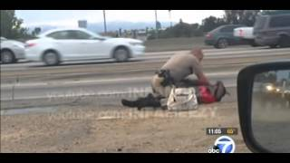 Cop Punches Woman In Los Angeles In Scene Caught On Tape
