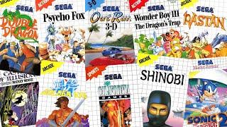 Top 150 best Sega Master system games in chronological order. 1986 -1995