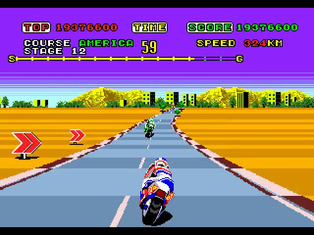 Mega Drive Longplay [164] Super Hang-On