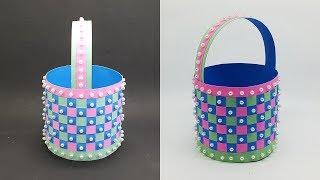 DIY Paper Basket making instruction - Easter and Christmas Gift Basket
