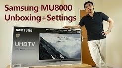 Samsung MU8000/ MU9000 2017 TV Unboxing + Setup