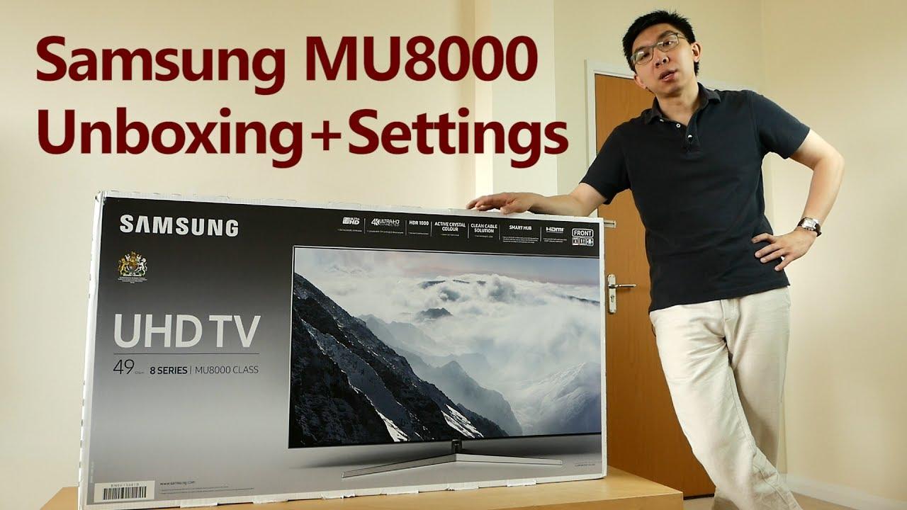Samsung Mu8000 Mu9000 2017 Tv Unboxing Setup Youtube