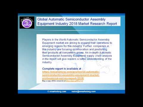 World Automatic Semiconductor Assembly Equipment Market Professional Survey Report 2018