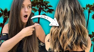 First Time Getting Hair Dyed – Virgin Hair Transformation! (Beauty Trippin)